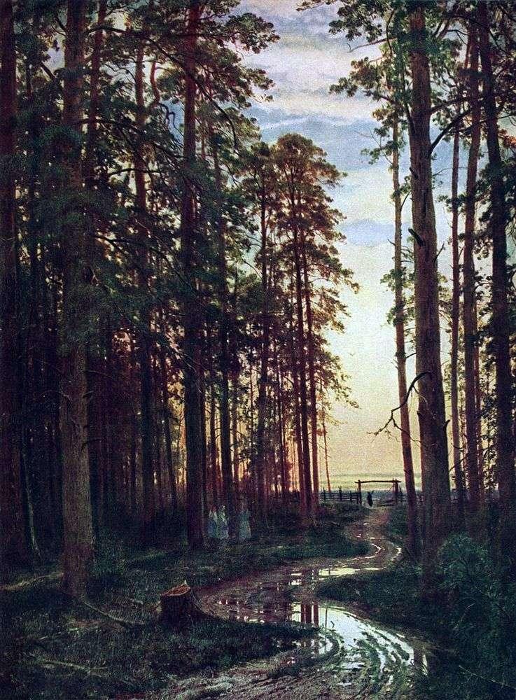 Вечер в сосновом лесу   Иван Шишкин