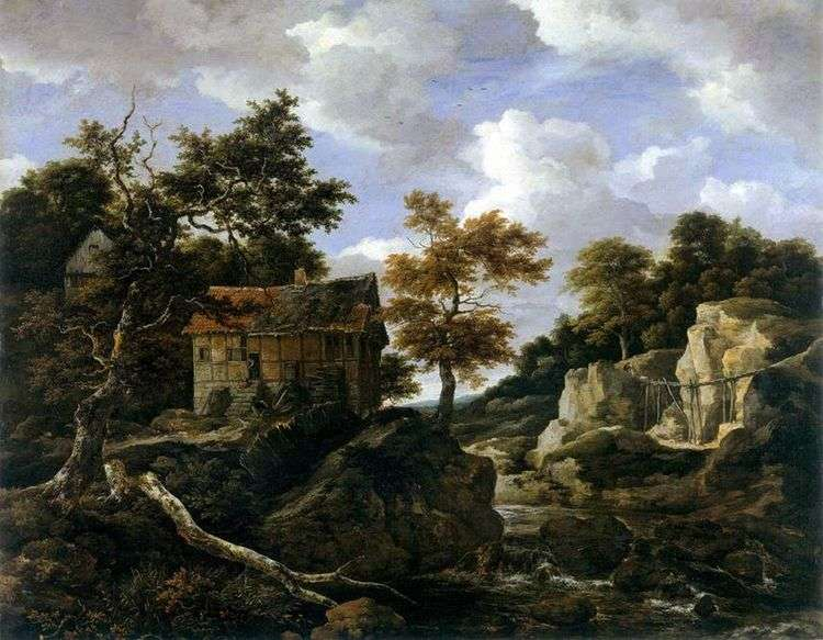 Пейзаж на закате   Якоб ван Рейсдал