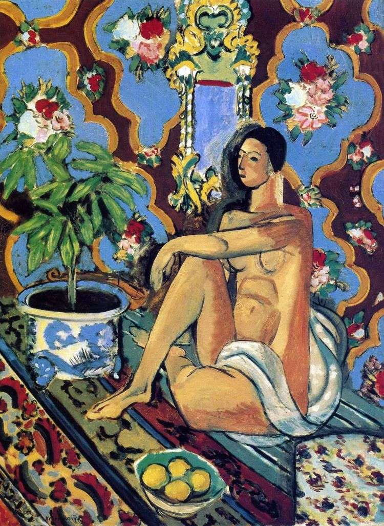 Декоративная фигура на орнаментальном фоне   Анри Матисс