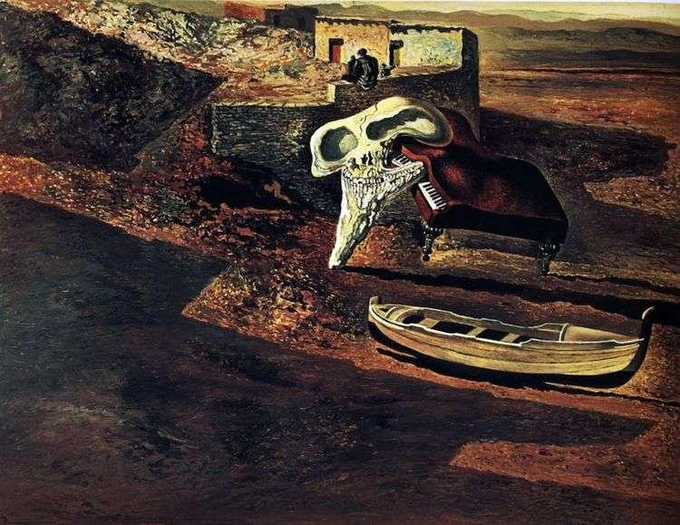 Испарившийся череп содомизирует рояль на коде   Сальвадор Дали