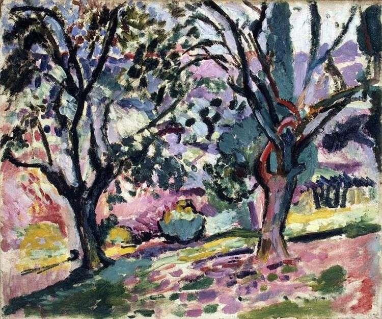 Деревья оливы в цвету   Анри Матисс