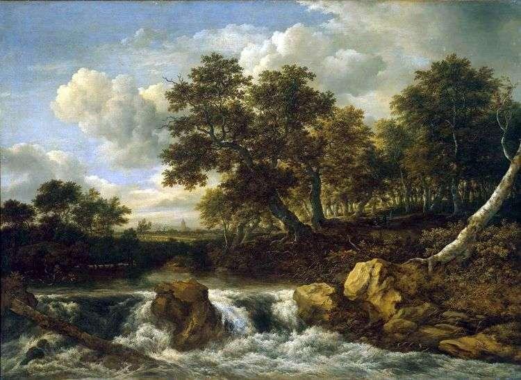 Пейзаж с водопадом   Якоб ван Рейсдал