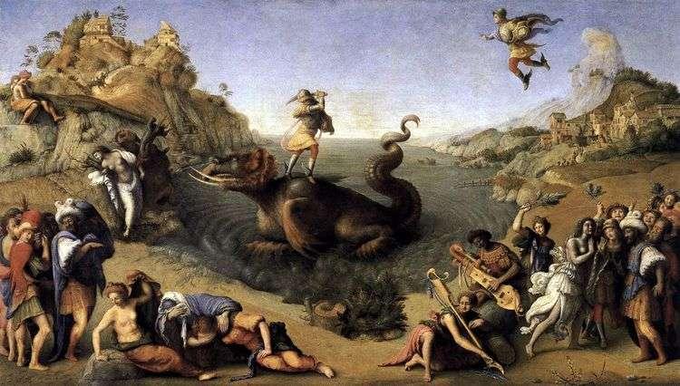 Персей освобождающий Андромеду   Пьеро ди Козимо