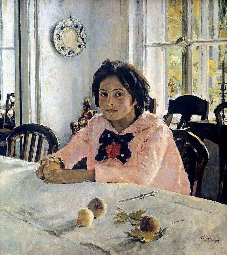 Девочка с персиками   Валентин Серов