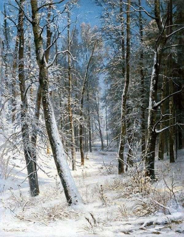 Зима в лесу (Иней)   Иван Шишкин