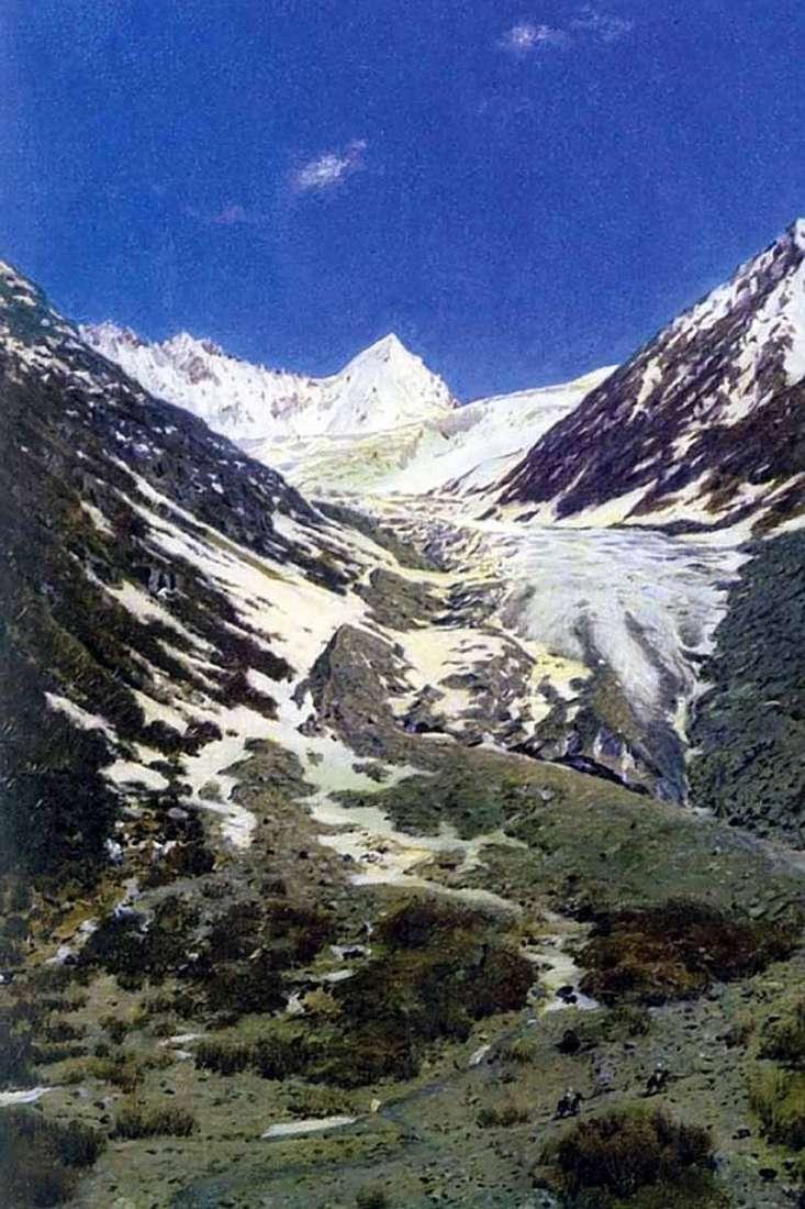 Ледник по дороге из Кашмира в Ладакх   Василий Верещагин