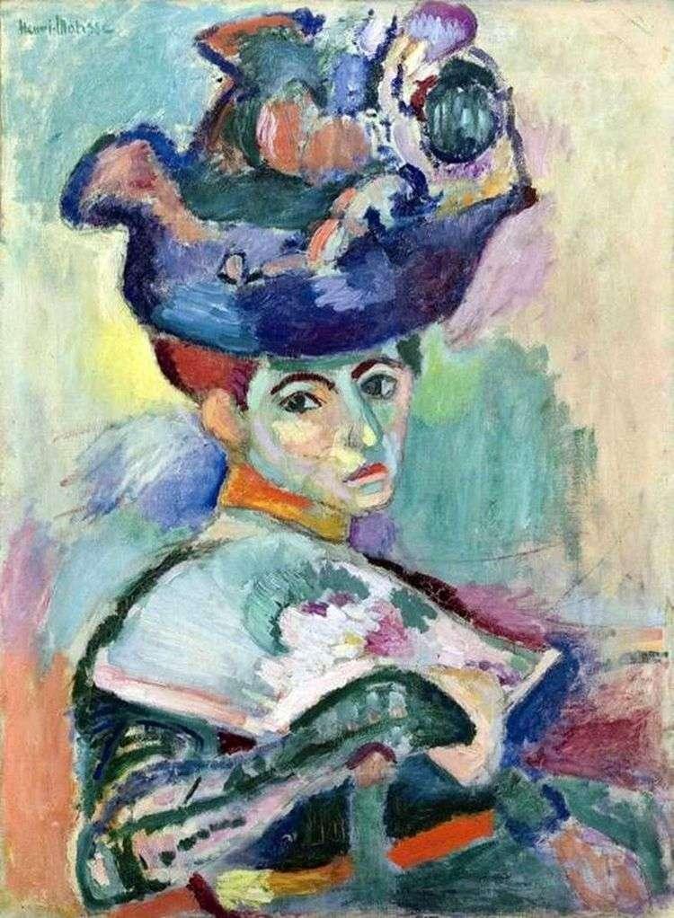 Женщина в шляпе   Анри Матисс