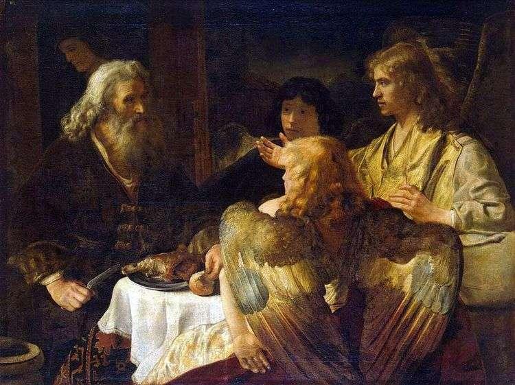 Авраам и три ангела   Рембрандт Харменс Ван Рейн