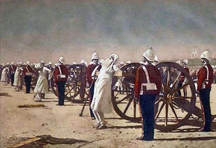 Подавление индийского восстания англичанами   Василий Верещагин