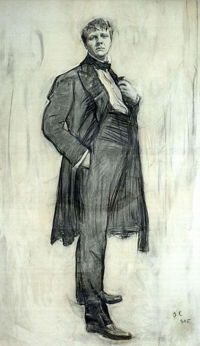Портрет артиста Ф. И. Шаляпина   Валентин Серов