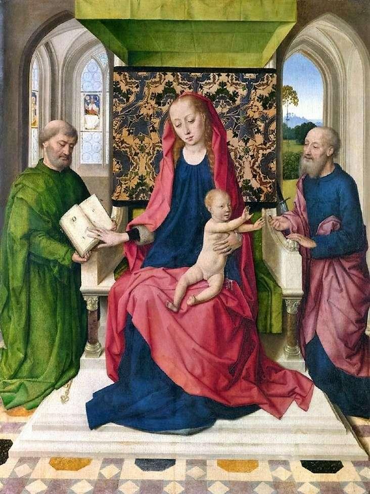 Мадонна с младенцем на троне со Святыми Петром и Павлом   Дирк Баутс