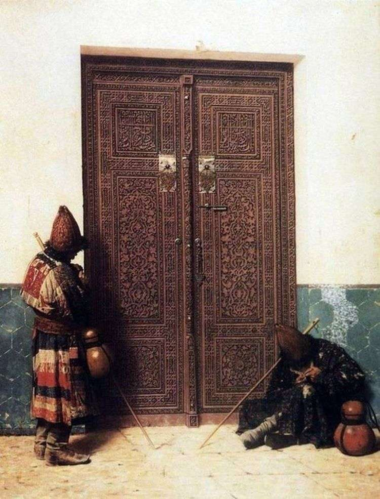 У дверей мечети   Василий Верещагин