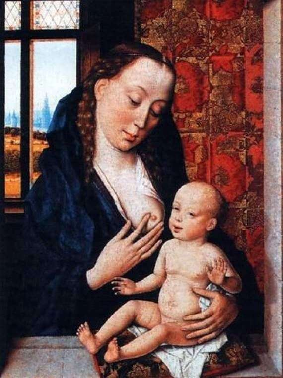 Мадонна, кормящая Младенца   Дирк Баутс
