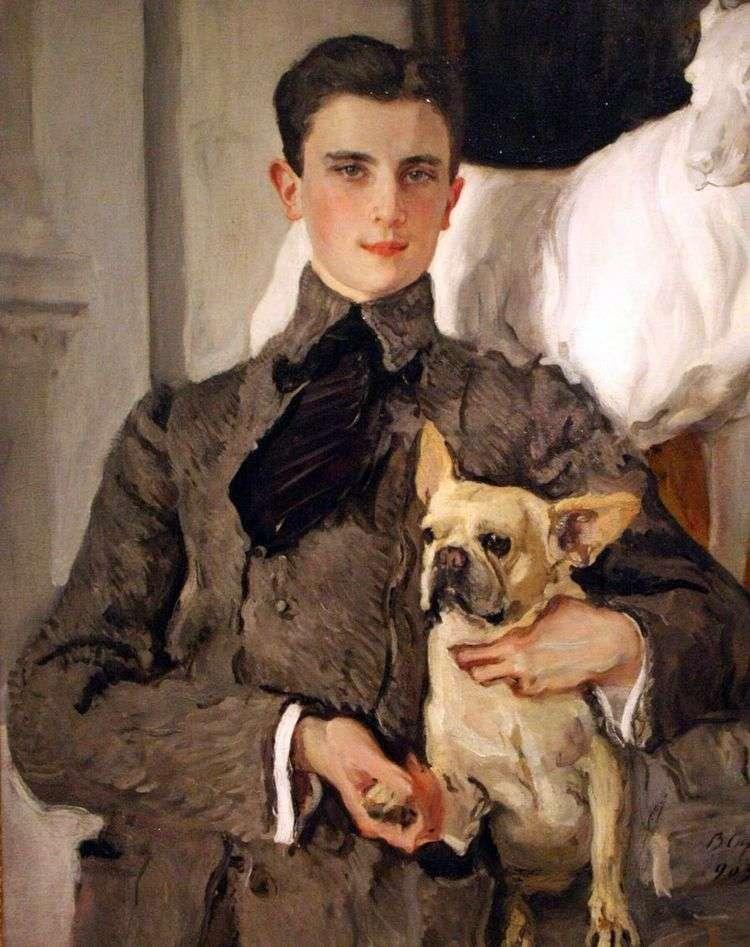 Портрет графа Ф. Ф. Сумарокова Эльстон, впоследствии князя Юсупова, с собакой   Валентин Серов
