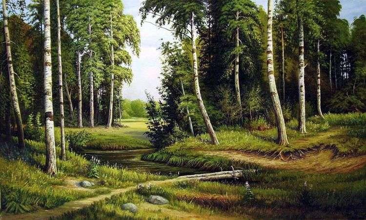 Ручей в березовом лесу   Иван Шишкин