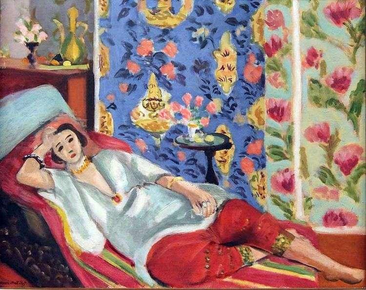 Одалиска в красных шальварах   Анри Матисс