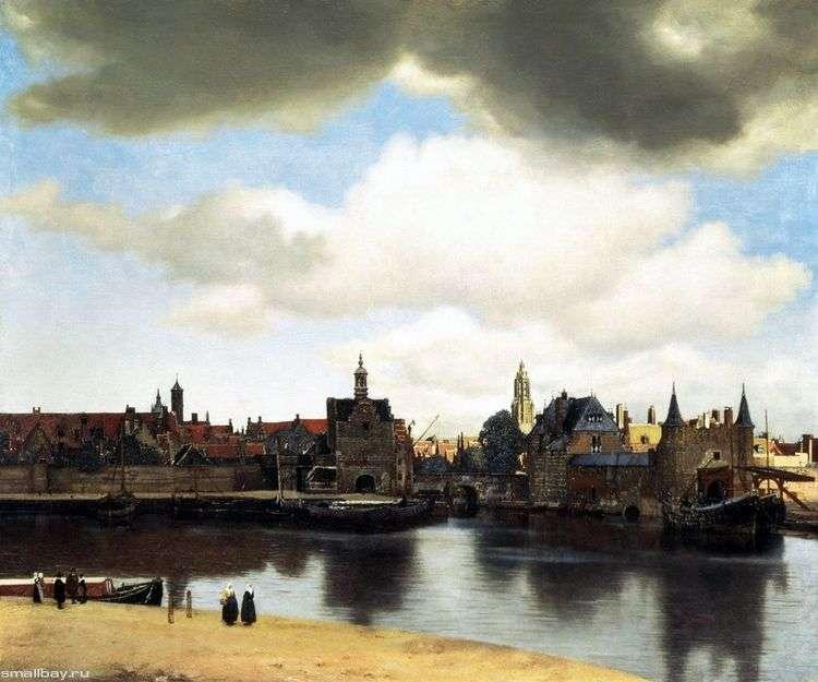 Вид города Делфта   Ян Вермеер