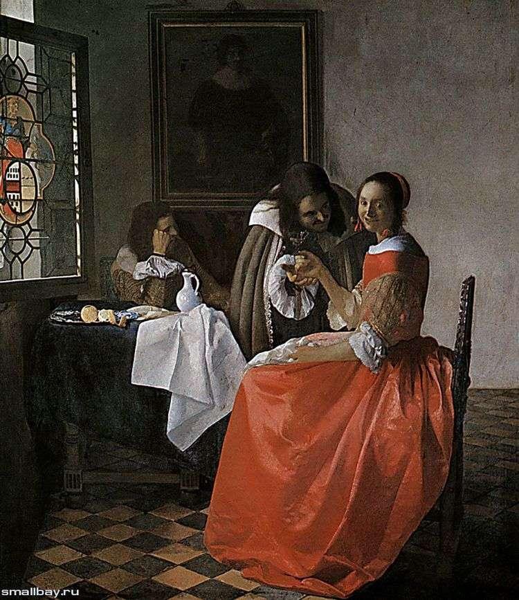 Дама и два кавалера   Ян Вермеер