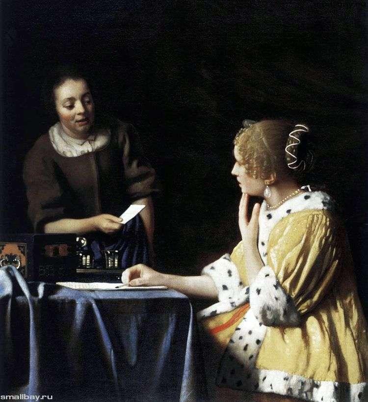 Дама и ее служанка с письмом   Ян Вермеер