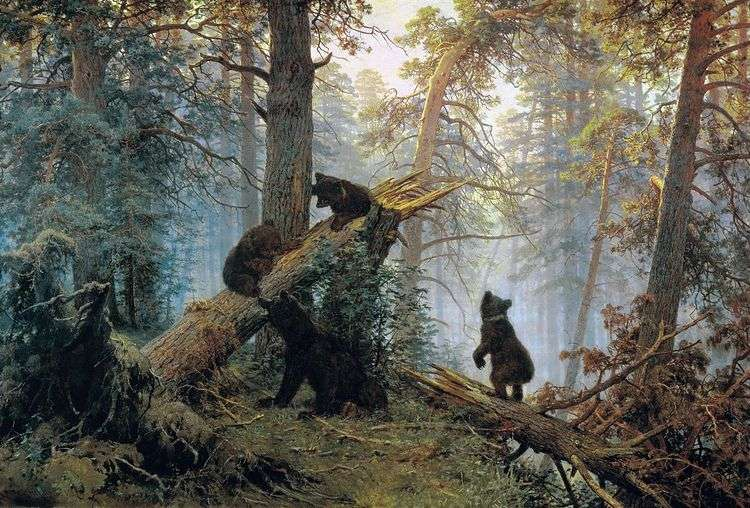 Утро в сосновом лесу (Три медведя)   Иван Шишкин