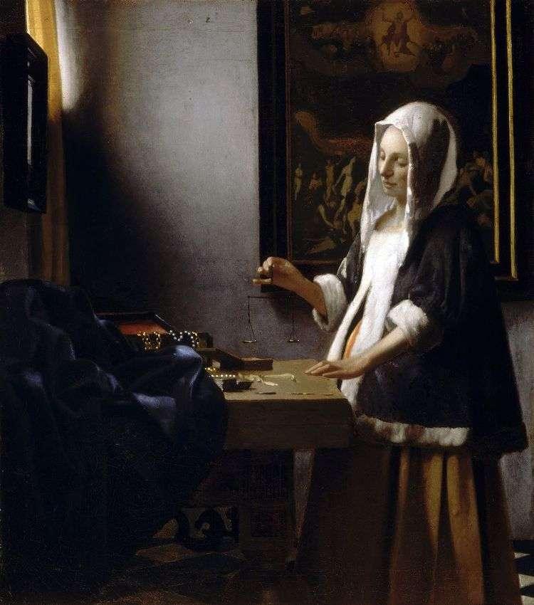 Женщина, занятая весами   Ян Вермеер