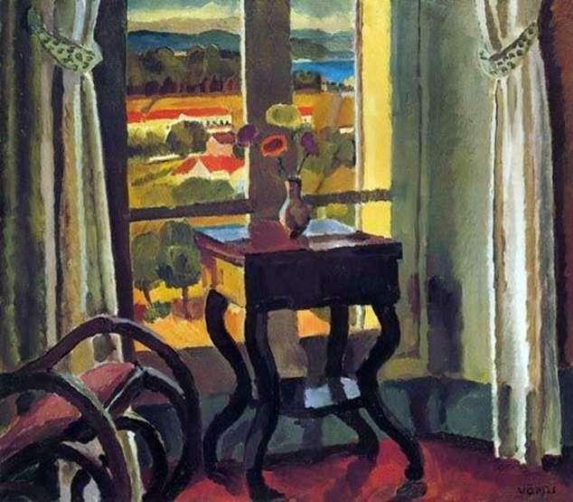 Интерьер со столом   Ванесса Белл