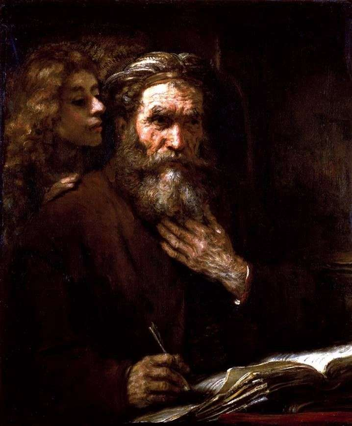 Евангелист Матфей и ангел   Рембрандт Харменс Ван Рейн