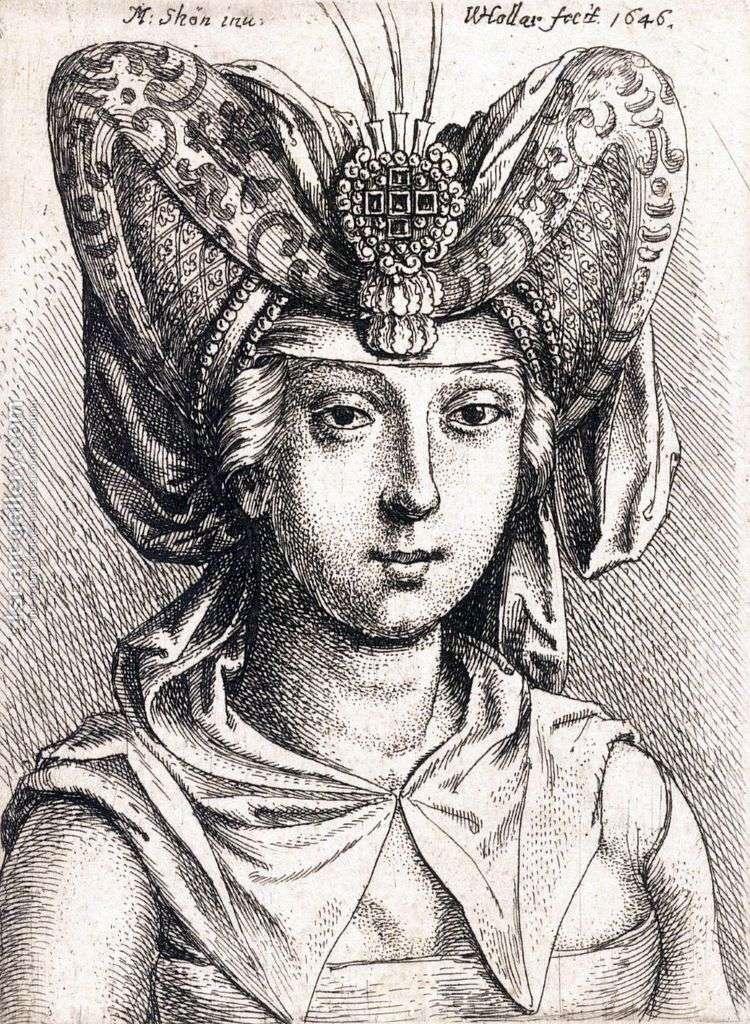 Портрет молодой женщины в тюрбане   Мартин Шонгауэр
