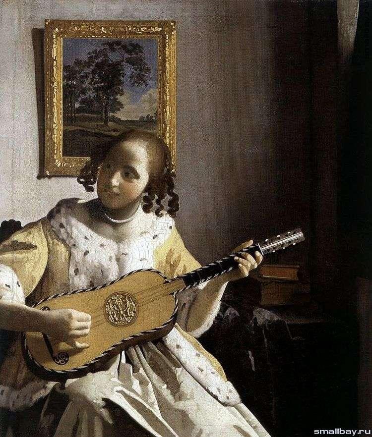 Молодая женщина с гитарой   Ян Вермеер