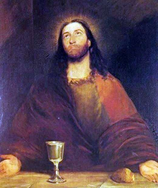 Христос, освящающий хлеб и вино   Джон Констебл