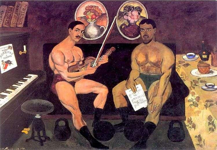 Автопортрет и портрет Петра Кончаловского   Илья Машков
