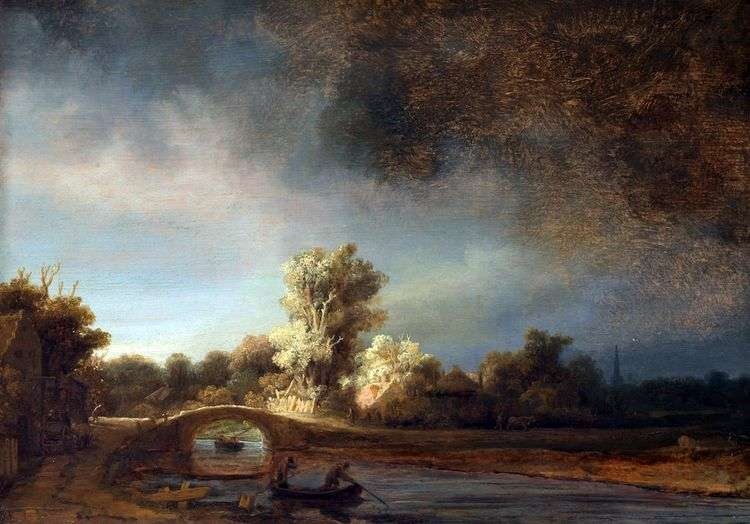 Каменный мостик   Рембрандт Харменс Ван Рейн
