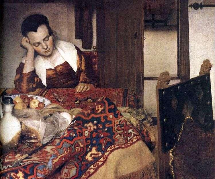 Спящая девушка   Ян Вермеер