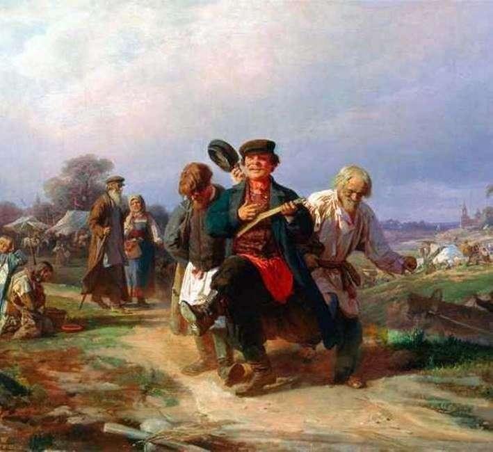 Возвращение отца семейства с ярмарки   Алексей Корзухин