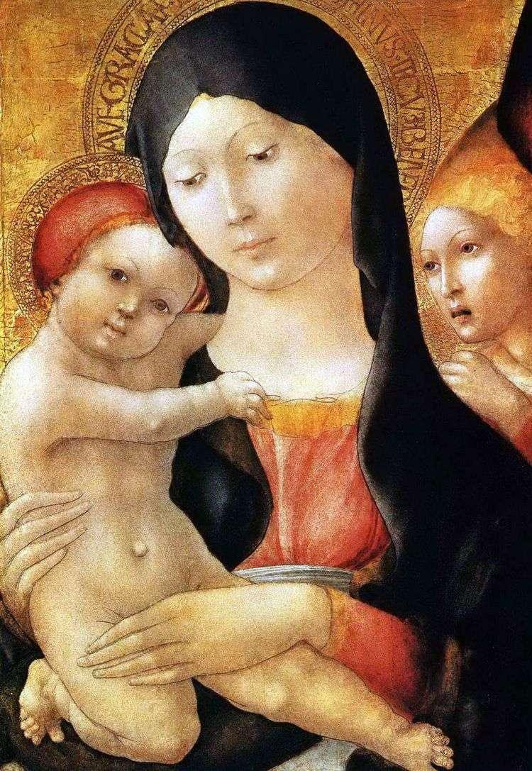 Мария с младенцем и ангелом   Либерале да Верона