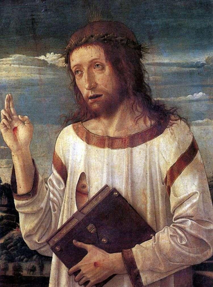 Благословляющий Христос   Джованни Беллини