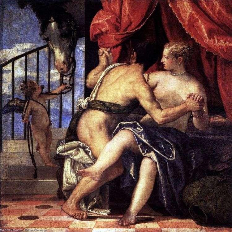 Венера и Марс с Амуром и лошадью   Паоло Веронезе