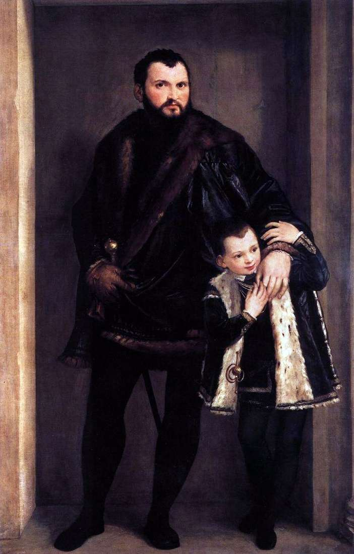 Граф де Порто с сыном Адриано   Паоло Веронезе