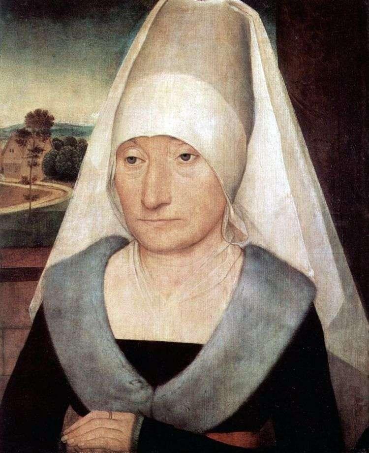 Портрет пожилой женщины   Ханс Мемлинг