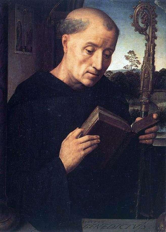 Святой Бенедикт   Ганс Мемлинг