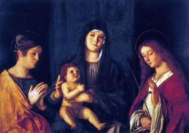 Мадонна с Младенцем, святой Екатериной и святой Урсулой   Джованни Беллини