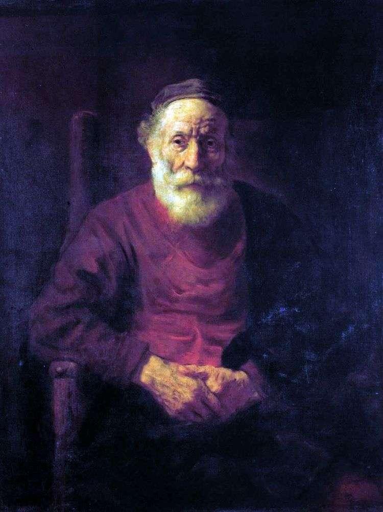 Портрет старика в красном   Рембрандт Харменс Ван Рейн