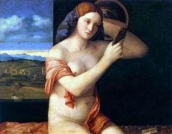 Молодая женщина за туалетом   Джованни Беллини