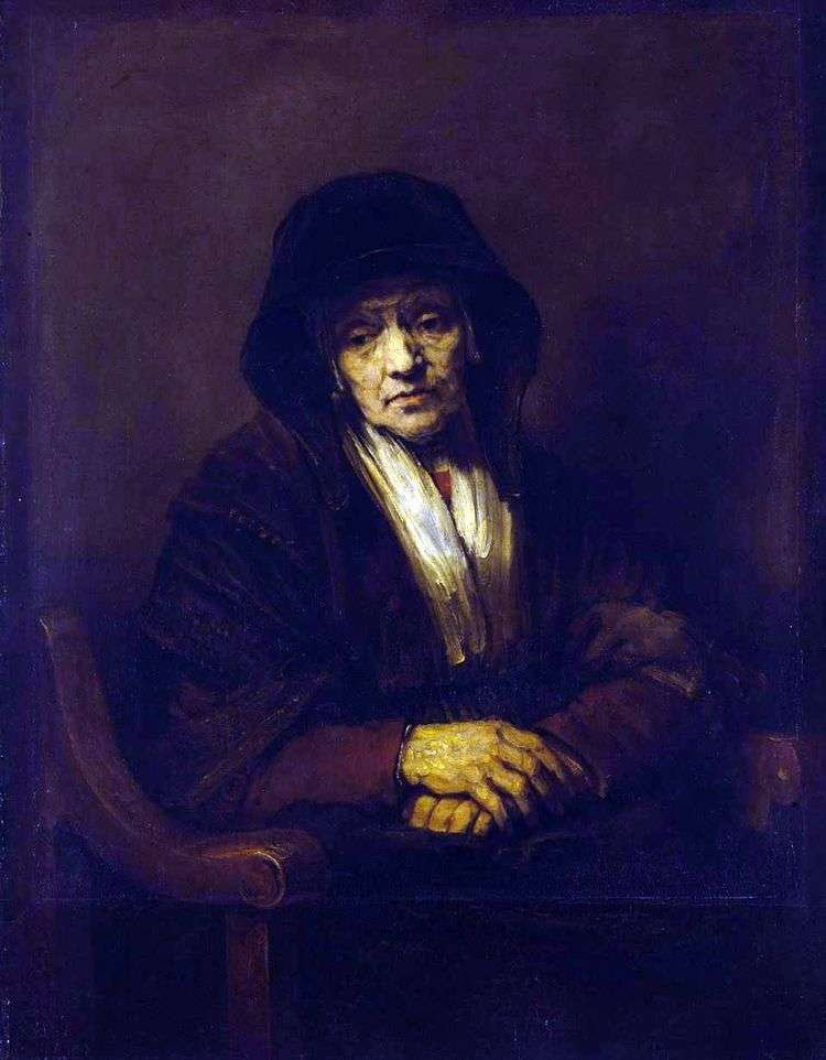 Портрет старухи   Рембрандт Харменс Ван Рейн