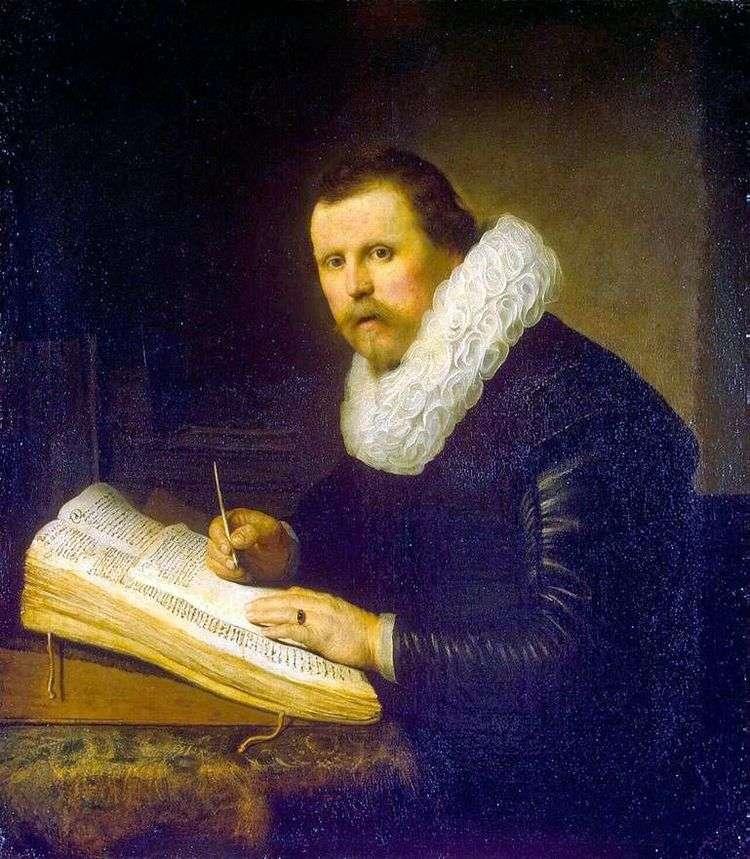 Портрет ученого   Рембрандт Харменс Ван Рейн