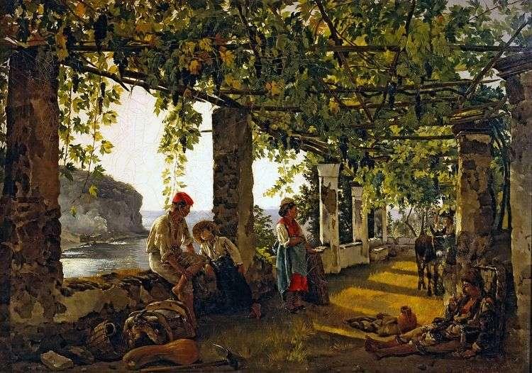 Веранда, обвитая виноградом   Сильвестр Щедрин