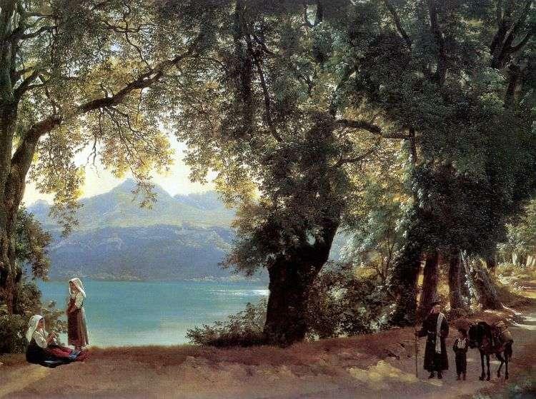 Вид озера Неми в окрестностях Рима   Сильвестр Щедрин