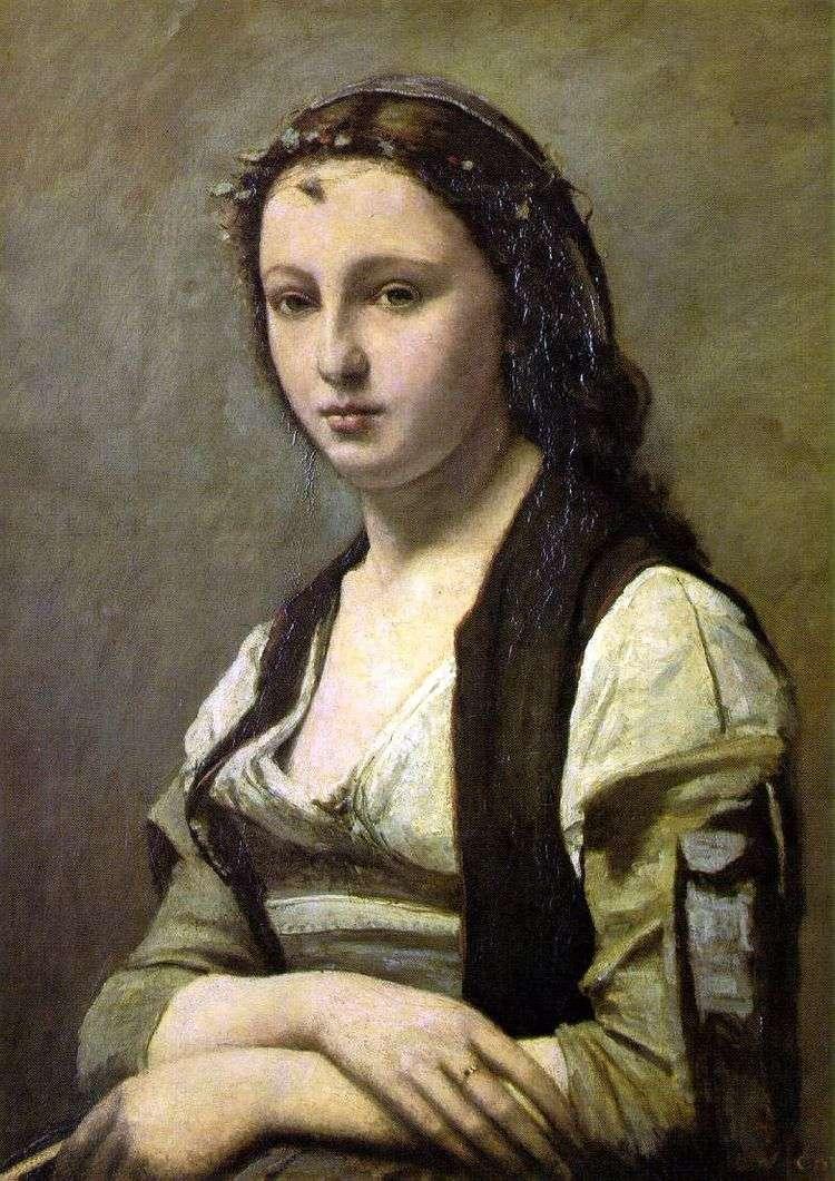 Женщина с жемчужиной   Камиль Коро