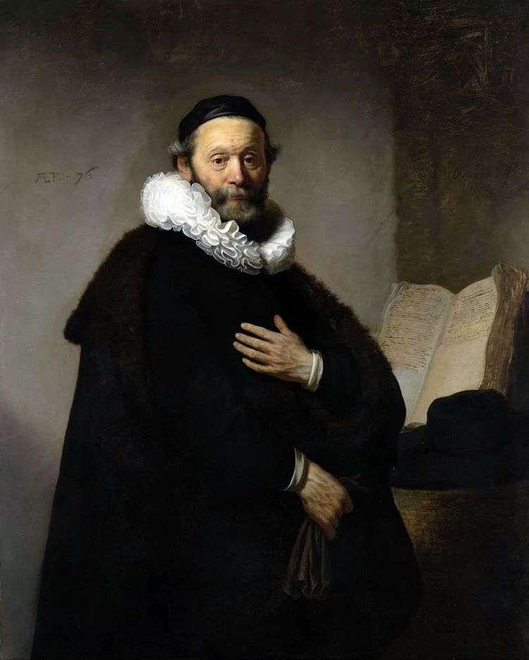Портрет Яна Утенбогарта   Рембрандт Харменс Ван Рейн