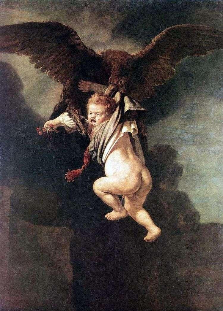 Похищение Ганимеда (Ганимед в когтях орла)   Рембрандт Харменс Ван Рейн
